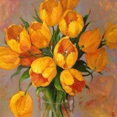 """Daily Paintworks - """"Springtime expressions"""" - Original Fine Art for Sale - © Krista Eaton Tulip Painting, Flower Painting Canvas, Oil Painting Flowers, Abstract Flowers, Watercolor Flowers, Watercolor Paintings, Flowers In Jars, Fruit Art, Paintings I Love"""
