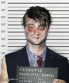 Celebrity Mugshots 4 - Worth1000 Contests. Harry Pothead