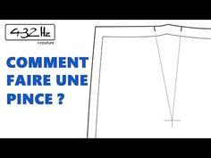 Tutoriel couture: Comment faire une pince? - YouTube