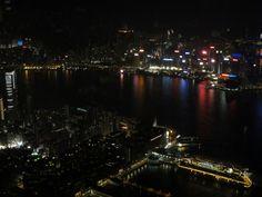 Blick auf Hong Kong aus der Ozone Bar, 118. Etage