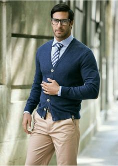 I like the fit of the sweater and the overall look of the top and undershirt.  The pants are too light for me.