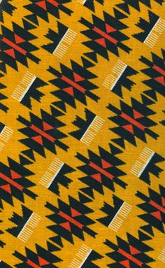 I like the repeating pattern and the sharp edges in this design. I think one of the black shapes with the red centre would look good as a pendant. I'm not keen on the mustard background because it takes away the boldness of the red.