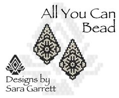 PATTERN ONLY. Create these beautiful peyote earrings. Delica Beads. Odd count with 2 bead colors. 21 bead columns by 25 bead rows. 1.11 wide by 1.75 long. Pattern includes a pattern preview, full bead legend, colored bead graph, complete word graph. Note: I choose the color palette