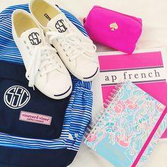 love these back-to-school essentials Preppy Girl, Preppy Style, My Style, Preppy Essentials, School Essentials, Preppy Southern, Southern Belle, Southern Prep, Prep Life