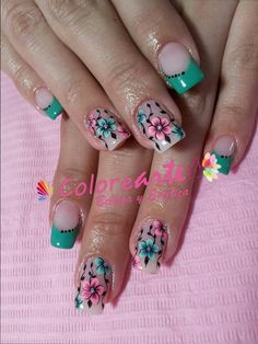 Uñas J Nails, Love Nails, Hair And Nails, Manicure, Hair Designs, Nail Art Designs, Natural Acrylic Nails, Pedicure Designs, Cute Nail Art
