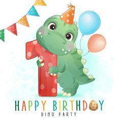 Die Dinos Baby, Baby Dinosaurs, Giraffe Illustration, Train Illustration, Butterfly Illustration, Watercolor Illustration, Watercolor Lion, Baby Painting, Cute Mermaid