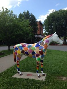 """This statue, in downtown Saratoga Springs, NY is titled: """"I'm Too Little To Ride."""""""