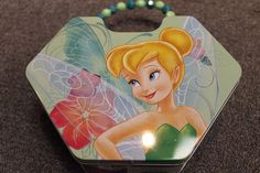Tinkerbell Tin Lunch Box - Purse - New - Green - Girls - Fairy Disney