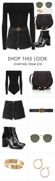 """""""Untitled #2649"""" by hiitsbre ❤ liked on Polyvore featuring WearAll, Chloé, RE/DONE, Gucci, Yves Saint Laurent, Ray-Ban and Nordstrom"""