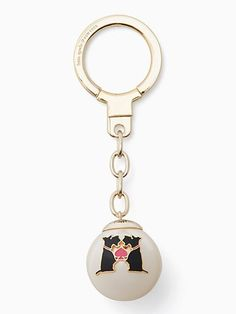 gemini zodiac pearl keychain | Kate Spade New York