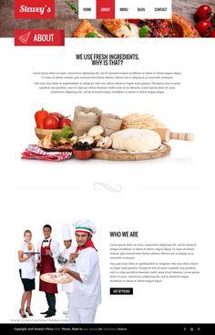 Steweys wonderful Fast Food, #Pizza responsive HTML Theme #restaurant