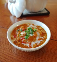 Smoky Pumpkin Quinoa Chili (Does not contain dairy, soy, beans, eggs, tomatoes or gluten.)