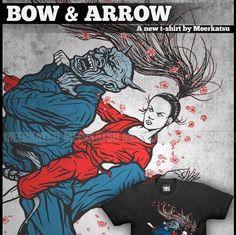 Bow and arrow choke/ T-shirt design   art by: MEERKATSU