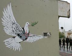 I truly dig Banksy's political art.