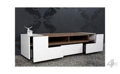 tv-meubel Empire - -- Innovative look Living Room Tv Unit, Living Room Decor, Bedroom Decor, Tv Unit Furniture, Furniture Design, Modern Tv Units, Rack Tv, Tv Wall Decor, Tv Unit Design