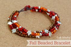 Easy Beaded Bracelet With Button Clasp For Fall