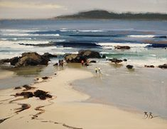 Brian Blood - Carmel Beach- Oil