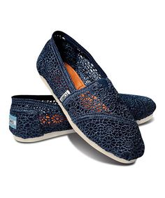Navy Crochet Classics by TOMS #toms #zulilyfinds #zulily Free shipping on TOMS orders of $65 or more!