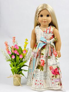 Doll Dress Patterns, Clothing Patterns, American Girl Clothes, American Girls, Ag Doll Clothes, Dress Tutorials, Girl Dolls, Ag Dolls, Flower Girl Dresses