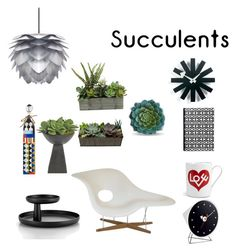 """""""Vitra cactus @nc4you"""" by nc4you on Polyvore featuring interior, interiors, interior design, Zuhause, home decor, interior decorating, Vitra, Dot & Bo, NDI und succulents"""