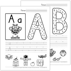 French Language Lessons, French Language Learning, French Lessons, French Alphabet, Alphabet Writing, French Worksheets, Kids Math Worksheets, Preschool Portfolio, Printing Practice