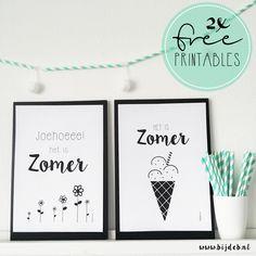 2 free printable Zomer posters