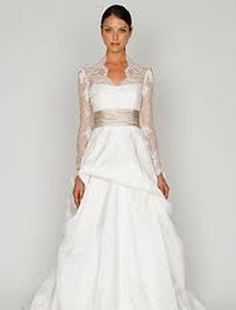 Bliss by Monique Lhuillier Illusion A-Line Wedding Dress  with Empire Waist in Silk. Bridal Gown Style Number:32335143