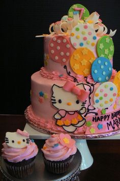 Mara's Hello Kitty Cake and Cupcakes — Children's Birthday Cakes