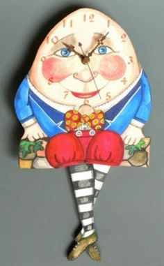 Laughing Moon Presents The Toymakers Collection - Humpty Dumpty Clock