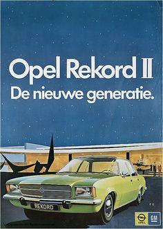 Reclame posters   1972   Opel Rekord II. De nieuwe generatie   Vintageposter.nl   Vintage Posters   Historische Posters   Historical Posters