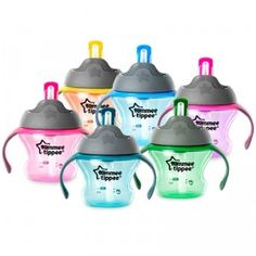 A 5 oz. drinking cup designed for babies making the transition from bottle to cup.