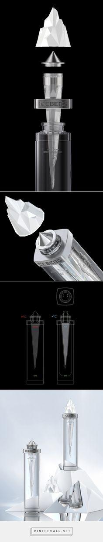 Iceberg gin packaging design #concept by Pavla Chuykina - http://www.packagingoftheworld.com/2017/04/iceberg-concept.html