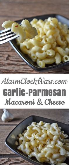 Macaroni & Cheese doesn't have to be just for kids! This Garlic-Parmesan Mac & C… Macaroni & Cheese doesn't have to be just for kids! This Garlic-Parmesan Mac & Cheese is a fun twist on a classic comfort food. I Love Food, Good Food, Yummy Food, Yummy Yummy, Delish, Macaroni Cheese, Mac Cheese, Baby Food Recipes, Cooking Recipes