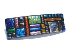Fused Glass Barrette Dichroic Glass Original by IntoTheLight, $28.00