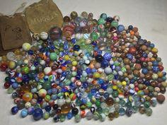 394pc Antique Vintage German Marble Lot Latticinio Swirl Onionskin Akro Agate | eBay
