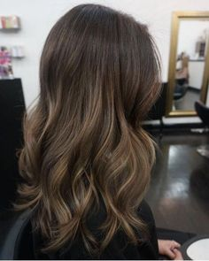 Subtle brunette balayage ombre