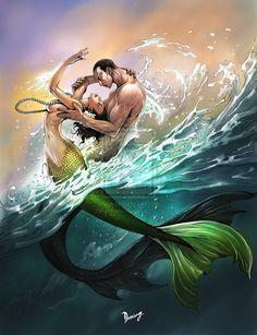 Mermaids by daxiong.deviantart.com on @deviantART