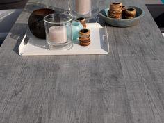 PURO Tisch Gartentisch 100x240 HPCL & Alu Silbergrau