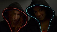TRON Hoodie with EL Wire (Cyberpunk?)