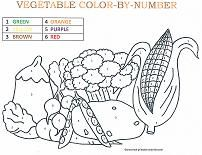 Lots of cute, simple color-by-number pages to print out for preschoolers! Vegetable Coloring Pages, Coloring Pages For Kids, Color By Number Printable, Free Worksheets For Kids, Lentil Nutrition Facts, Learning Colors, Simple Colors, Cooking With Kids, Food Coloring