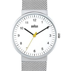 Braun BN0031 (white/silver) watch by Braun. Available at Dezeen Watch Store: www.dezeenwatchstore.com