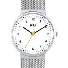 Braun BN0031 (white/silver) watch by Braun. Available at Dezeen Watch Store: www.dezeenwatchstore.com