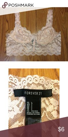 Forever 21 Bralette Baby pink F21 lace bralette. Size large. Will ship same day as purchased! From a smoke-free home. No trades please. Forever 21 Intimates & Sleepwear Bras