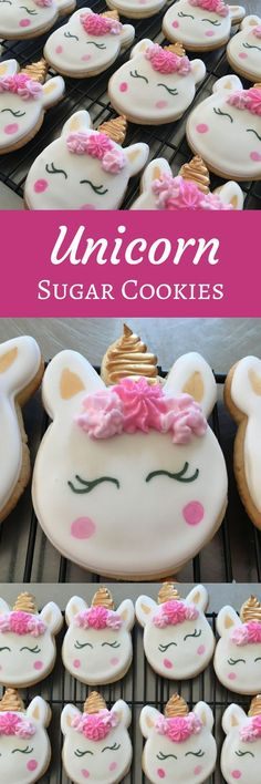 Unicorn Sugar Cookies. Order is for one dozen (12) Cookies #affiliate
