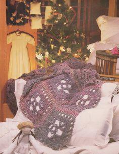 Vintage Afghan 01 Crochet PDF Pattern by KatnaboxCrochet on Etsy