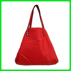 3 in 1 Tote Purse Red Faux Leather Stonewashed Hobo Shoulder Bag Satchel Crossbody - Hobo bags (*Amazon Partner-Link)