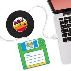 Floppy Disk and Vinyl Record USB Mug Warmers