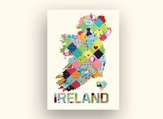 Wall Decoration Customized Personalized Ireland Country by witAwoo, £6.49