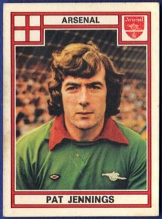 Pat Jennings: I first saw Pat play in the 1979 FA Cup Final where the Gunners we. - Pat Jennings: I first saw Pat play in the 1979 FA Cup Final where the Gunners were huge underdogs p - Arsenal Players, Arsenal Football, Arsenal Fc, Football Stickers, Football Cards, Football Shirts, Good Soccer Players, Football Players, Pat Jennings