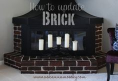 How to Stain Brick (Updating a Brick Fireplace) - love!!